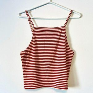NWT Pink Martini Striped Crop Top Size S/L!